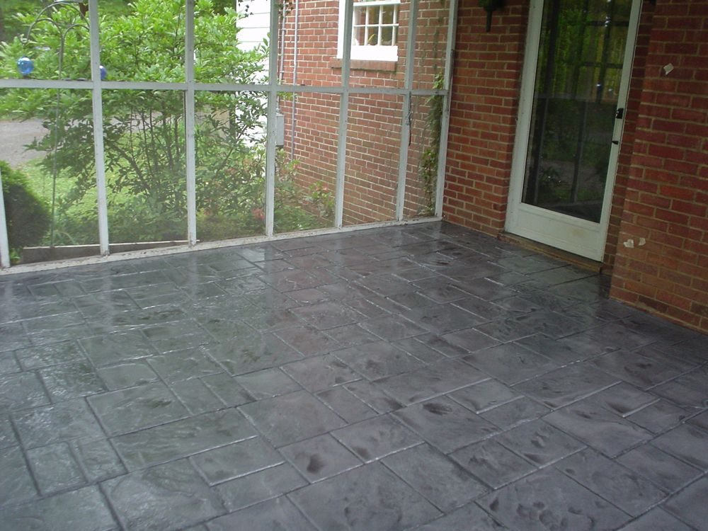 decorative concrete, patio floor