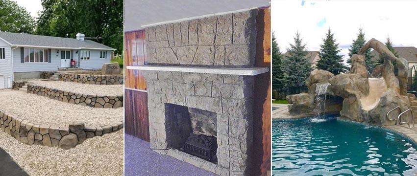 Vertical Decorative Concrete